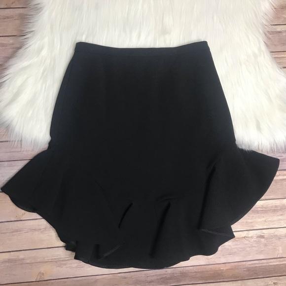 Anthropologie Dresses & Skirts - Leifsdottir black Faray fluted Ruffle Hem Skirt